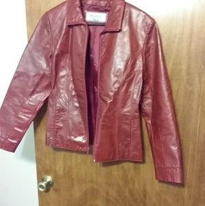 Wilson red leather jacket